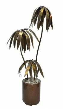 Vintage Potted Brass Palm Tree - Mecox Gardens