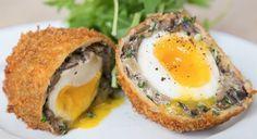 Mushroom scotch eggs