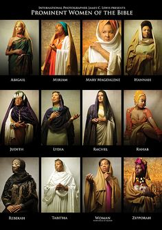 Prominent Women Of The Bible Art Print by Icons Of The Bible. All prints are professionally printed, packaged, and shipped within 3 - 4 business days. Choose from multiple sizes and hundreds of frame and mat options. History Icon, Women In History, Art History, History Quotes, Design History, Blacks In The Bible, Biblical Costumes, Arte Judaica, Black Hebrew Israelites