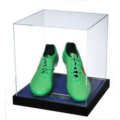 John Terry Signed Match Worn Green Nike Football Boots 2014/2015 – Acrylic Case