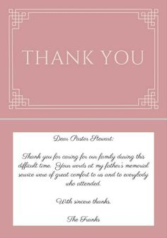 Funeral Thank You Card Ideas  Google Search  Funeral
