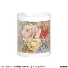 Trio Of Roses - Vintage Floral Mug