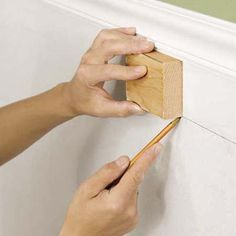 picture frame wall molding | 11 install the frames step 12 tack the frame step 13 fill any nail ...