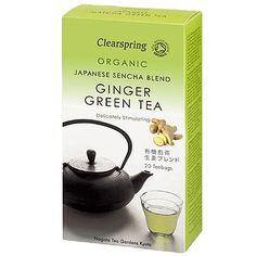 Clearspring Organic Ginger Green Tea (20 bags)