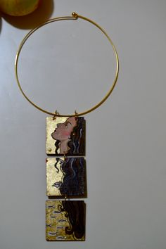 """Collana in trittico originale """"donna dai capelli lunghi"""" di CappelliniDiPetra su Etsy"""