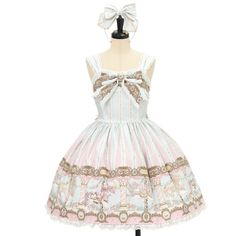 ♥ Angelic pretty ♥ Day dream carnival jumper skirt + headband http://www.wunderwelt.jp/products/detail9531.html If you like this item please check this page ♡ #egl