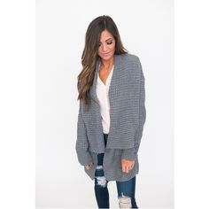 Soft Oversized Sweater This beautiful gray oversized sweater is perfect for the chilly season! 60% Cotton and 40% Acrylic. This oversized woven knit cardigan is just what your winter wardrobe needs! Please comment below what size you would like and I'll make you a listing!💜 Serval Fashion Sweaters