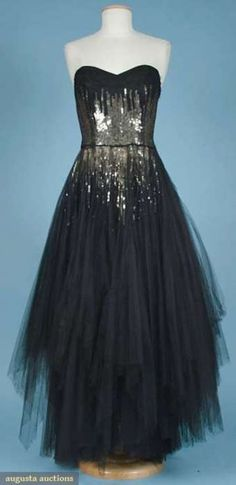 Jacques Heim ball gown, 1940s