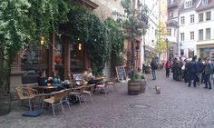 Outdoor student cafe in Heidelberg