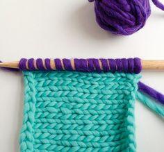 Tricot : apprendre à tricoter en vidéo une maille envers facilement  Vidéo