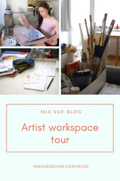 Take a tour in my little creative workspace - artist blog   running a small business at home Artist Workspace, Support Small Business, Surface Pattern Design, Creative Studio, Small Businesses, Tours, Running, Blog, Small Business Resources