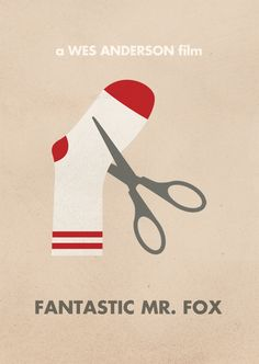 Fantastic Mr Fox | Wes Anderson Minimal Movie Posters by Justin Mezzel