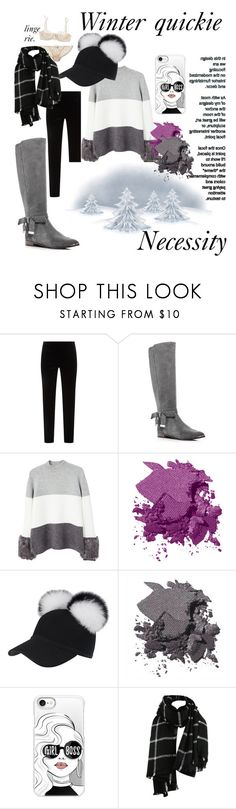 """""""Winter quickie"""" by umereno ❤ liked on Polyvore featuring ESCADA, Ted Baker, MANGO, Bobbi Brown Cosmetics, Casetify and Elle Macpherson Intimates"""