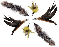 Cat Toys Feather Refill 6 Pack - Add Life to Your Cat's Favorite Toy with this Top Quality Interchangeable Feather Refill Multipack - $10