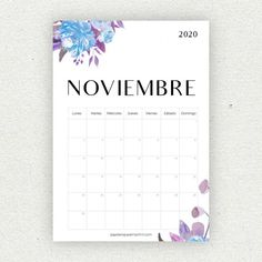 Wonderful Pic November calendar 2020 Strategies Calendars have become essential factors to get preparing regular life. You can find different kinds Print Out Calendar, Photo Calendar, November Calendar, Calendar 2020, December, Bullet Journal School, Bullet Journal Inspo, Diy Agenda, Planning Calendar