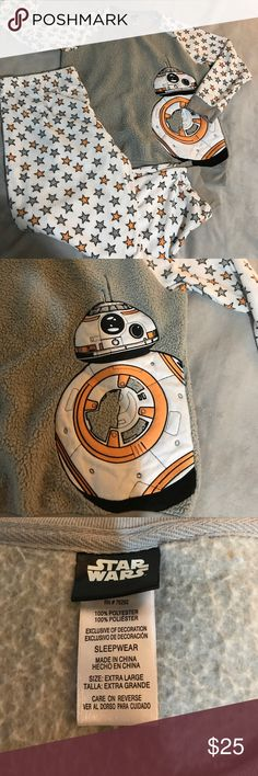 Star Wars BB8 pjs Excellent condition!! New with out tags! Just tried it on. Very warm and cozy. XL Intimates & Sleepwear Pajamas