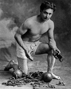Escape artist Harry Houdini (1874-1926)