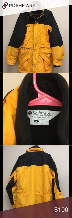 """Men's Columbia Winter Jacket Columbia """"West Ridge"""" '3 in 1' black and yellow men's winter jacket.  Jacket has three detachable layers(outer layer, inner shell and hood), has never been worn, is in excellent condition and is a size Large. Can provide measurements upon request.  All garments come from a smoke-free home and are kept away from pets. Feel free to ask any questions or make offers and don't forget to bundle for lower prices! Columbia Jackets & Coats Ski & Snowboard"""
