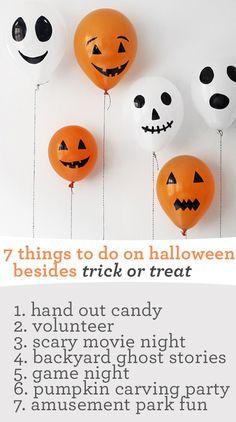 7 Non-Trick or Treat Ideas-->