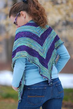 Llandudno pattern by Colleen Abbot. malabrigo Sock in Indiecita and Abril