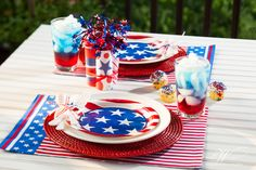 Great 4th of July party table top idea, shot for Dinner4Two. www.theWrightlight.com