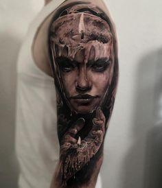 Świeca głowa kobiety