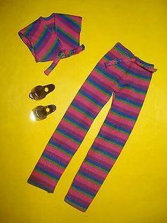 Vtg Kenner DARCI 80s Doll Clothes Lot FANCY PANTS fits Erica Dana Jem