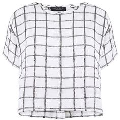 Myne - Silver elliot plaid shirt ($138) ❤ liked on Polyvore featuring tops, shirts, crop tops, t-shirts, checkered top, tartan crop top, crop shirt, crop top and boxy shirt