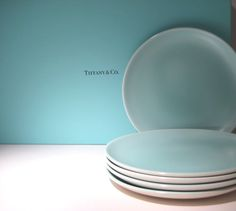 5 Vintage Poole Bread Plates  Twintone by HazelRoberts on Etsy, $23.00