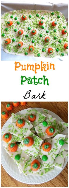 Fall is here & it's Pumpkin time! This Pumpkin Patch Bark recipe is perfect … Fall is here & it's Pumpkin time! This Pumpkin Patch Bark recipe is perfect for any fall gathering or as a fun recipe for kids to make. Fall Snacks, Halloween Snacks, Fall Treats, Holiday Treats, Diy Halloween, Halloween Candy, Haunted Halloween, Halloween Table, Halloween Christmas