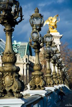 View on the Grand Palais from the Alexandre III bridge, Paris VIII. My favourite bridge in Paris Paris Canal, Paris City, Paris Paris, Beautiful Paris, I Love Paris, Paris Travel, France Travel, Places To Travel, Places To See