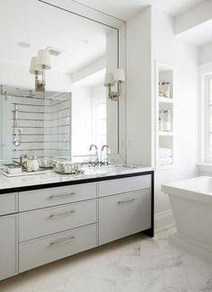 Bathroom Mirror Wall Chandeliers 59 Ideas Wall Bathroom Large
