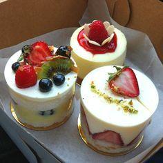 Little mousse cakes. Exquisita presentación¡¡¡