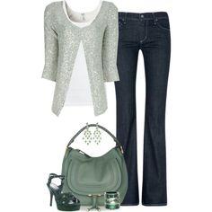 Silver Glitter Embellished Cardigan