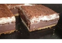 Picture of Recept - BE - BE řezy s čokoládou - nepečené, jednoduché a výborné No Cook Desserts, Delicious Desserts, Dessert Recipes, Yummy Food, Czech Recipes, Russian Recipes, No Bake Cookies, No Bake Cake, Baking Cupcakes