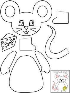 Moldes de animales para papel - ratón