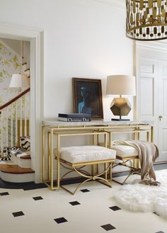 Cynthia Rowley for Hooker Furniture Living Room Serendipity Console Table 1586-85007-MULTI4