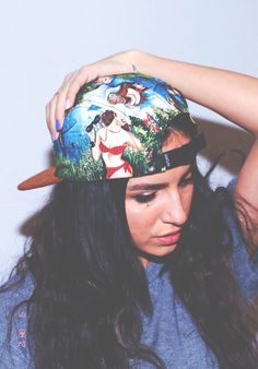 Girl in 5panel hat Style Hipster d9f66d17d4a85