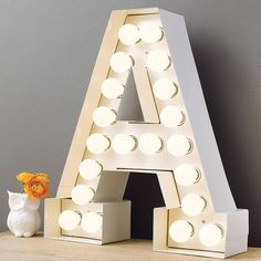 alphabet hollywood light by the letteroom | notonthehighstreet.com