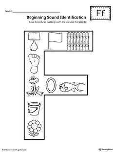 Short Letter E Beginning Sound Color Pictures Worksheet