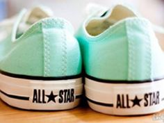 All star mint green converse Mint Converse, Converse All Star, Converse Shoes, Cheap Converse, Nike Sneakers, Mint Vans, Mint Shoes, Shoes, Colors