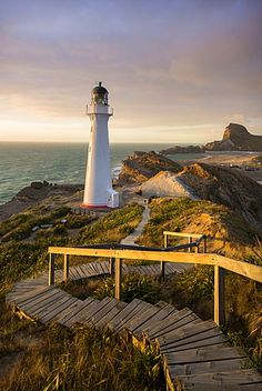 Castle Point Lighthouse, Castlepoint, Wairarapa, North Island, New Zealand…