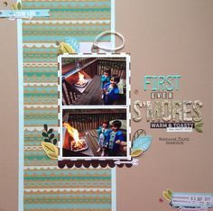 First ever s'mores | crafts by marialachica | scrapbook layout created for the Mercy Tiara September 2017 challenge