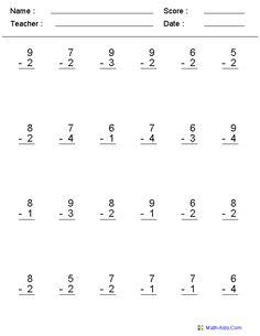 best subtraction worksheets images in   subtraction  single digit subtraction worksheets math worksheets math activities  kindergarten math teaching math