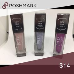 Julep Nail Lot Julep Nail Polish in: Charlene, Lorraine, & Abby.   ***all new and unused Julep Makeup