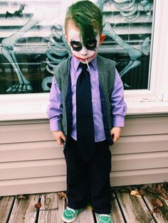DIY Joker toddler costume More