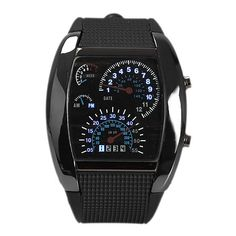 2016 LED Digital Watch Men's Race Speed Sport Dial Silicone Strap Male Military Wristwatch relogio masculino