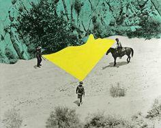 John Baldessari, Yellow Void with Three Figures on ArtStack #john-baldessari #art