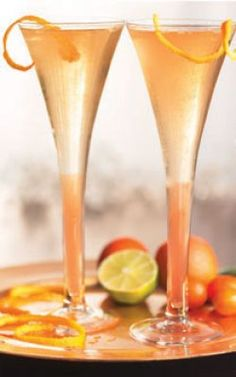 Mmm, check out this tasty champagne cocktail! #champagne #recipe #cocktail #recipe