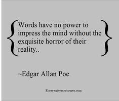 Edgar Allan Poe Writing Quote